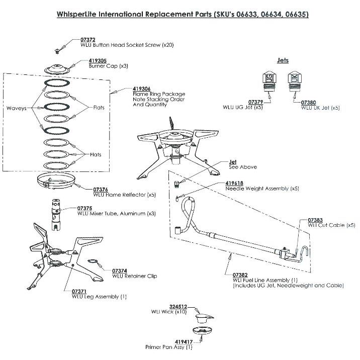 MSR WhisperLite International diagram