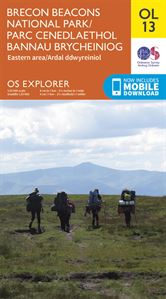 OS OL/Explorer 13 Paper - Brecon Beacons Eastern Area