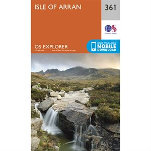OS Explorer 361 Paper - Isle of Arran