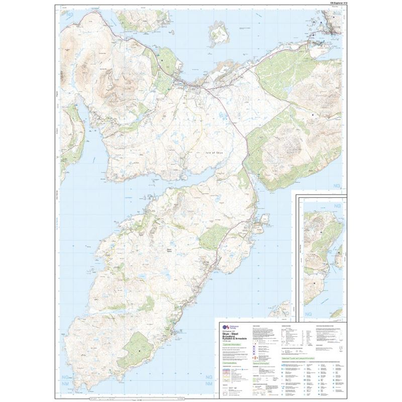OS Explorer 412 Paper - Skye - Sleat sheet
