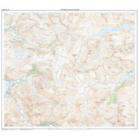 OS Explorer 414 Paper Glen Shiel & Kintail Forest 1:25,000 north sheet