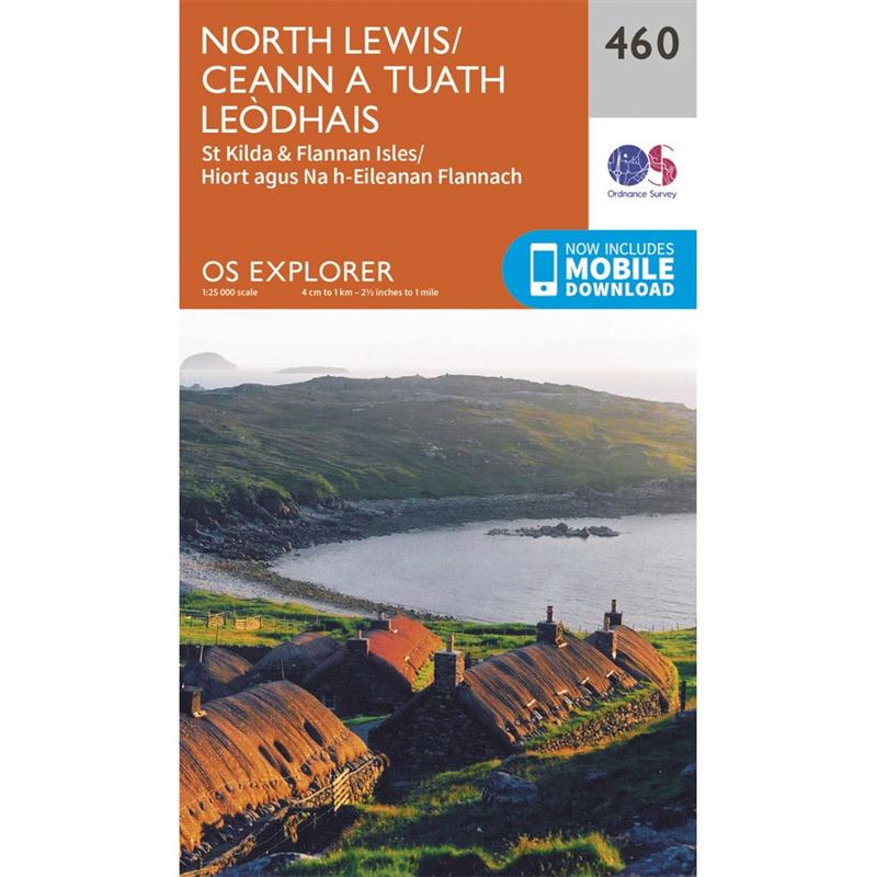 OS Explorer 460 Paper - North Lewis