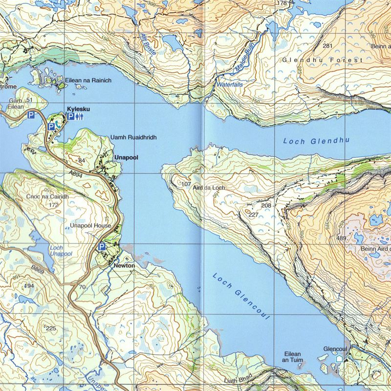 BMC Waterproof Mountain Map Assynt 1:40,000 detail