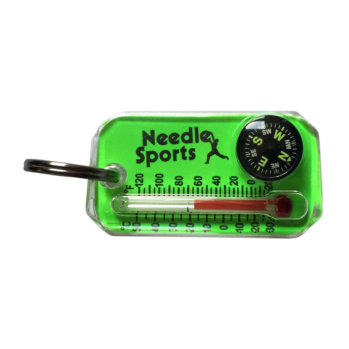Needle Sports Zip O Gauge Thermometer Compass Keyring