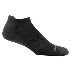 Darn Tough Men's Vertex No Show Tab Ultra-Light Cushion Running Sock Black