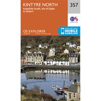 OS Explorer 357 Paper - Kintyre North