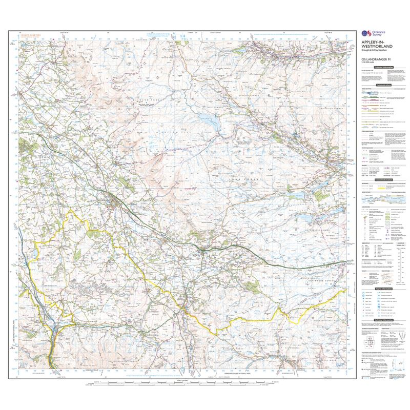OS Landranger 91 Appleby-in-Westmorland sheet