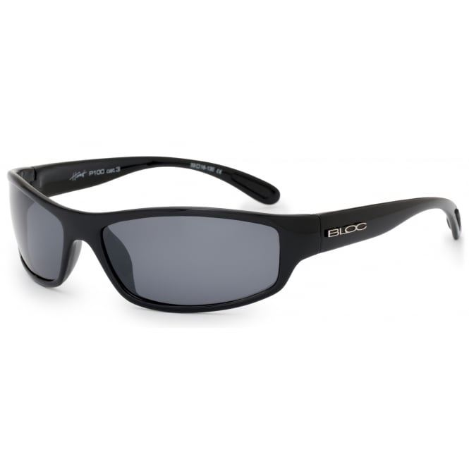 Bloc Hornet P100 Shiny Black with Polarised Grey Lenses
