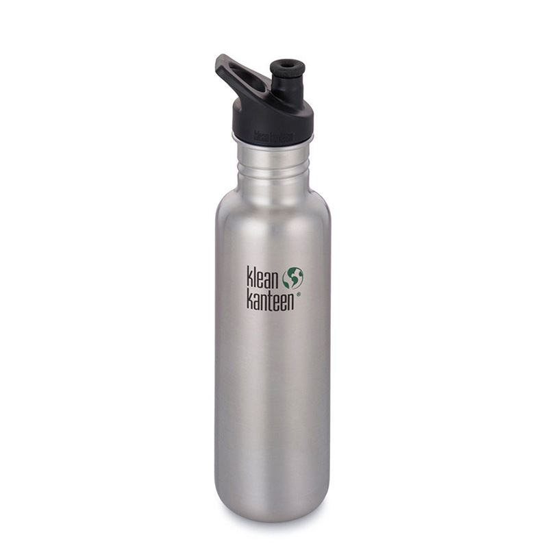 Klean Kanteen Classic 800ml Sport Cap Brushed Stainless