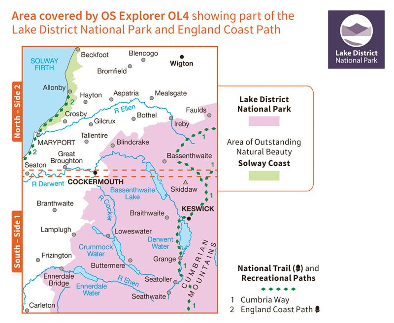 OS OL4 The English Lakes North-Western Area Active coverage