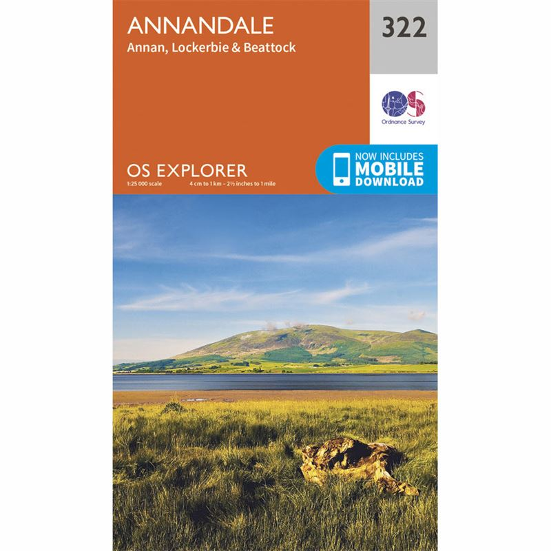 OS Explorer 322 Paper - Annandale