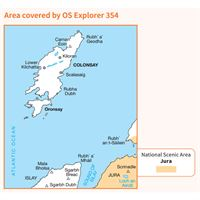 OS Explorer 354 Paper - Colonsay & Oransay coverage