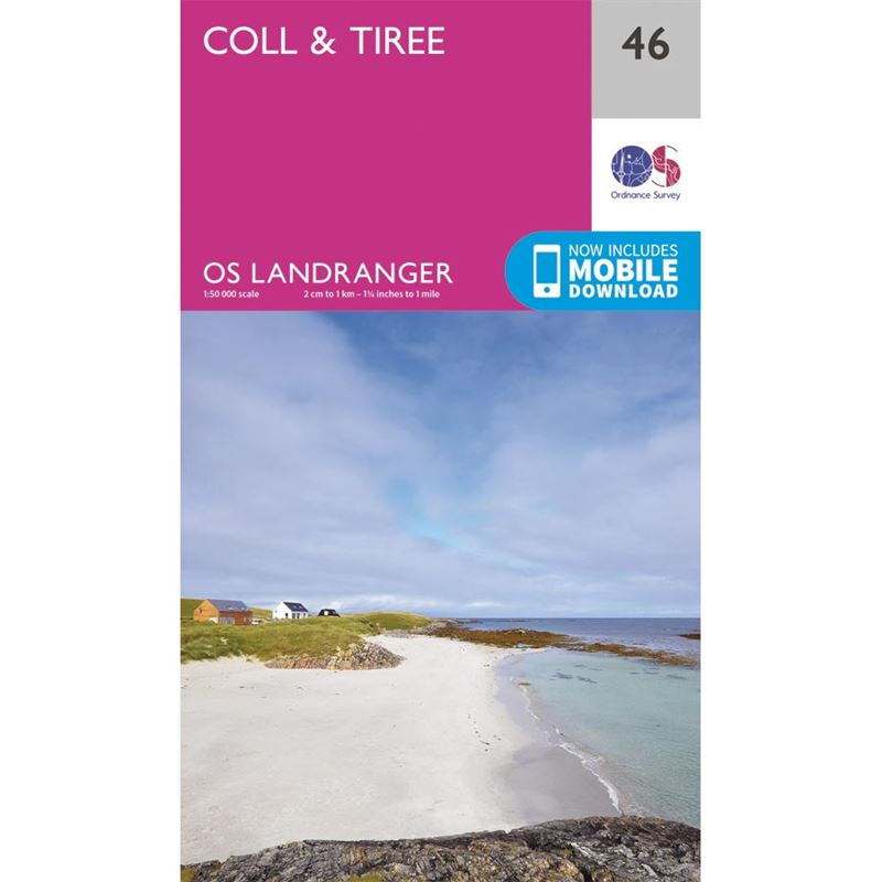 OS Landranger 46 Paper - Coll & Tiree