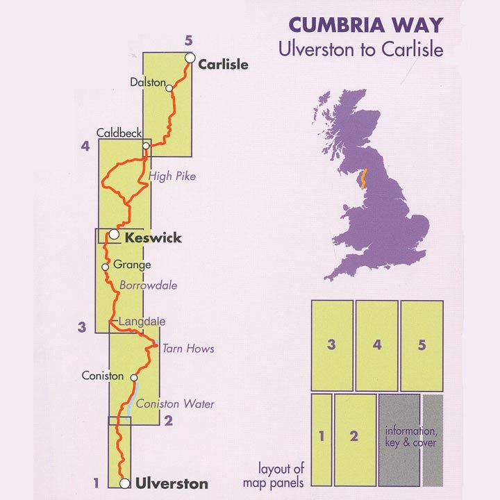 Harvey Cumbria Way Map coverage