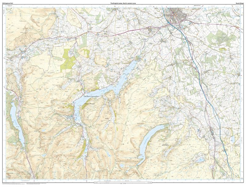 OS OL5 The English Lakes North-Eastern Area south sheet