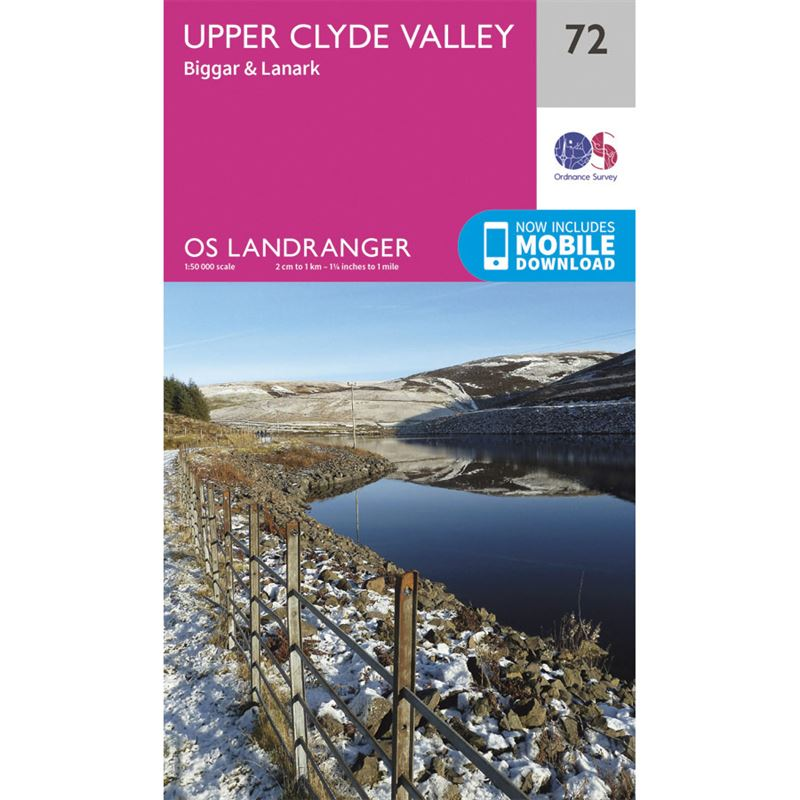OS Landranger 72 Paper - Upper Clyde Valley