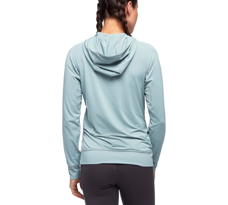 Black Diamond Women's Long Sleeve Alpenglow Hoody Blue Ash