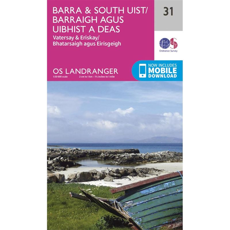 OS Landranger 31 Paper - Barra & South Uist