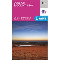 OS Landranger 116 Paper - Denbigh and Colwyn Bay
