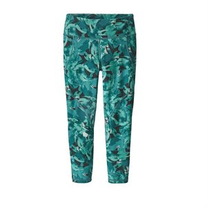 Patagonia Women's Centered Crops Abstract Jungle: Tasmanian Teal