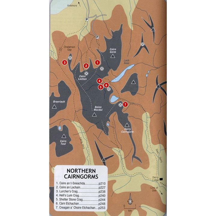Scottish Winter Climbs map