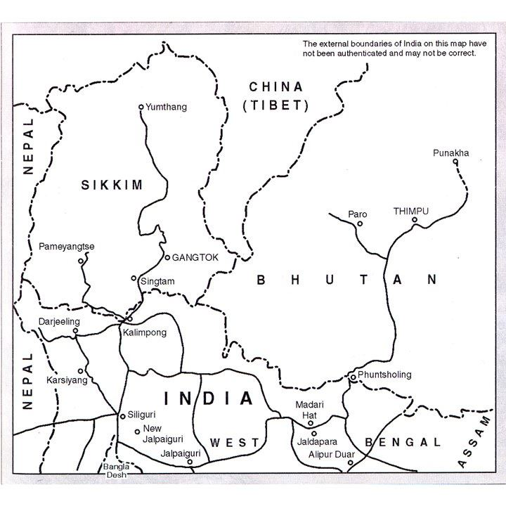 The Indian Himalaya map