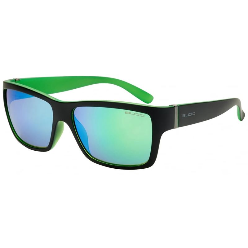 Bloc Riser XG1 Matt Black/Green with Green Mirror Lenses