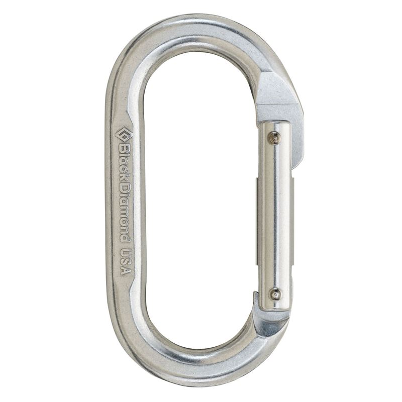 Black Diamond Oval Keylock Karabiner Polished