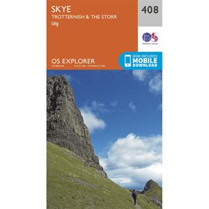 OS Explorer 408 Paper - Skye - Trotternish & The Storr