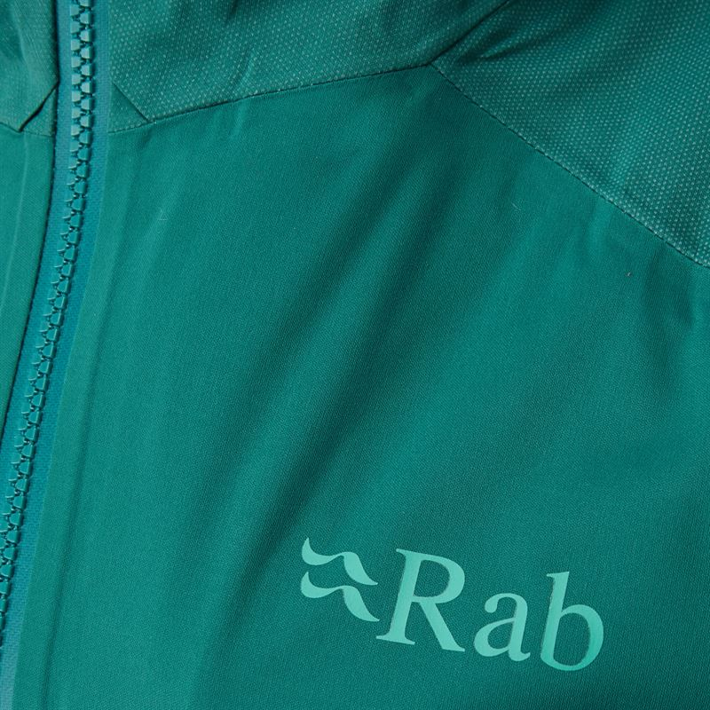 Rab Women's Kinetic Alpine Jacket Atlantis detail