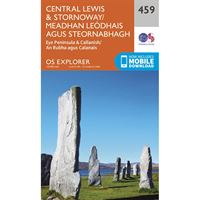 OS Explorer 459 Paper - Central Lewis & Stornoway