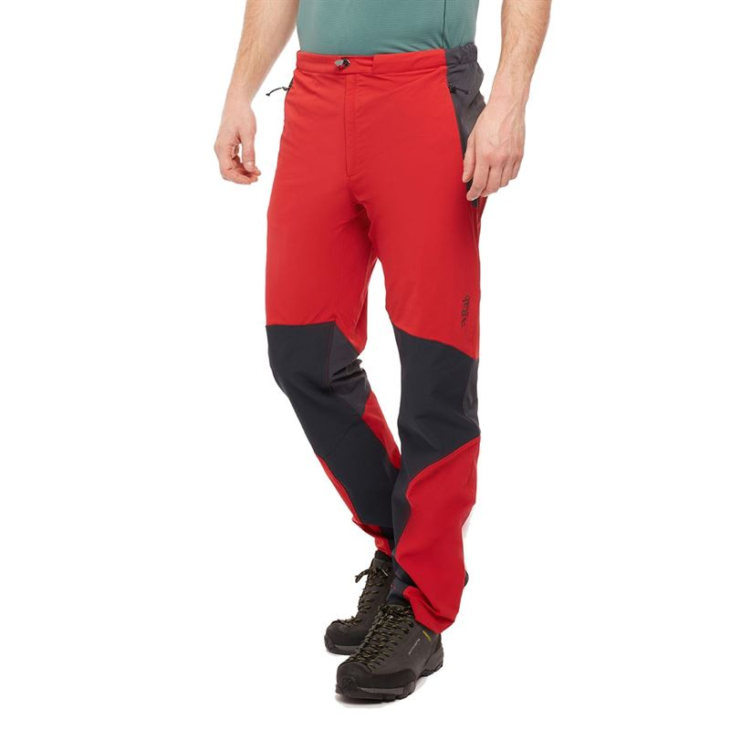Rab Men's Torque Pants Ascent Red in use