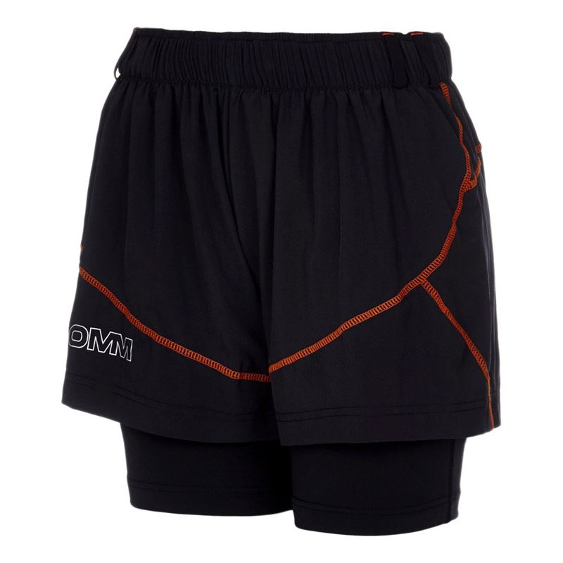 OMM Women's Pace Shorts Black/Orange