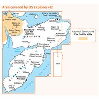 OS Explorer 412 Paper - Skye - Sleat coverage