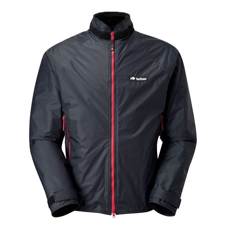Buffalo Men's Belay Jacket Black with Red Zips