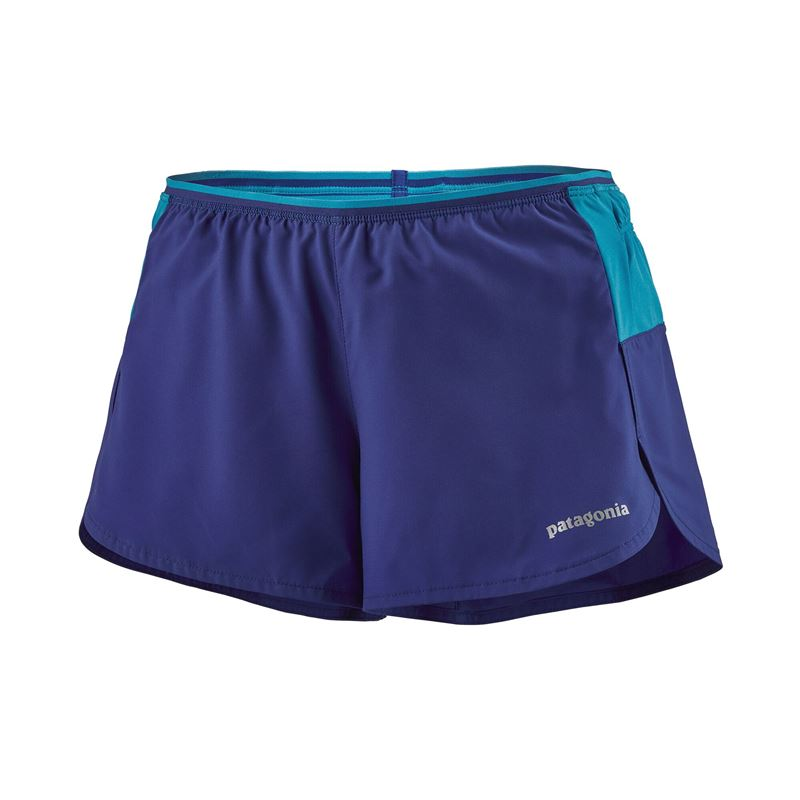 "Patagonia Women's Strider Pro Running Shorts 3"" Cobalt Blue"