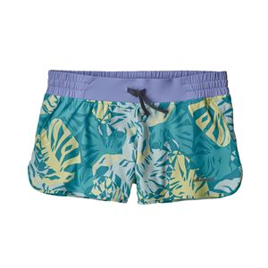 "Patagonia Women's Nine Trails Shorts 4"" Tarkine Fern Small: Mako Blue"
