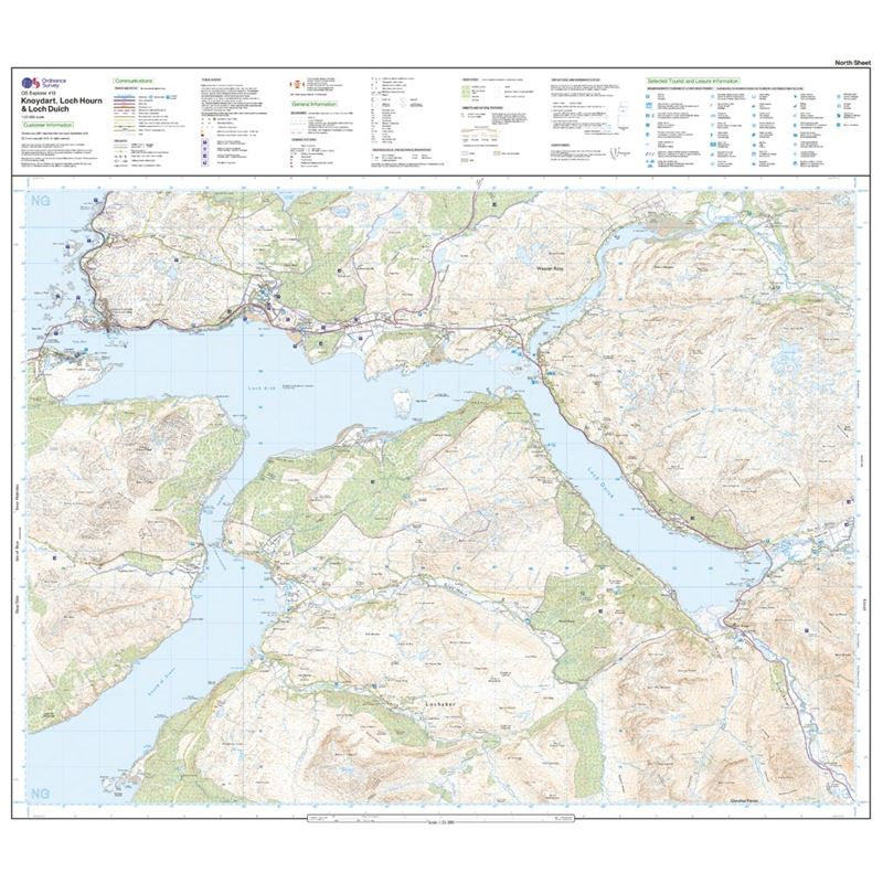 OS Explorer 413 Paper Knoydart, Loch Hourn & Loch Duich 1:25,000 north sheet