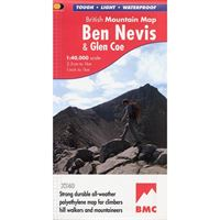 BMC Waterproof Mountain Map - Ben Nevis & Glencoe