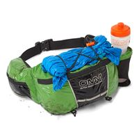 OMM Ultra Waist Pouch 6 Litres Green in use