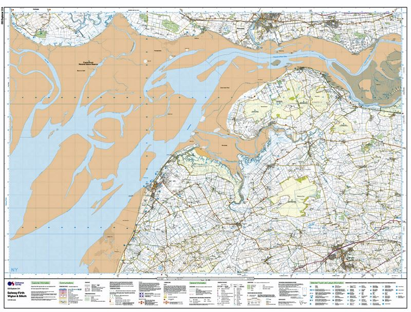 OS Explorer 314 Solway Firth sheet