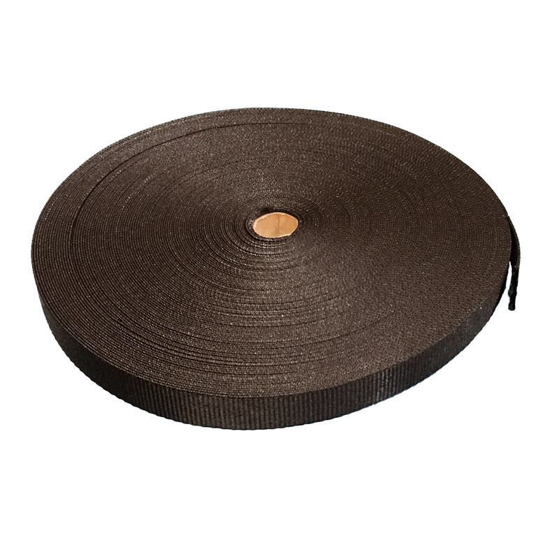 Ace Supplies Black Polypropylene Webbing Tape 50m Roll