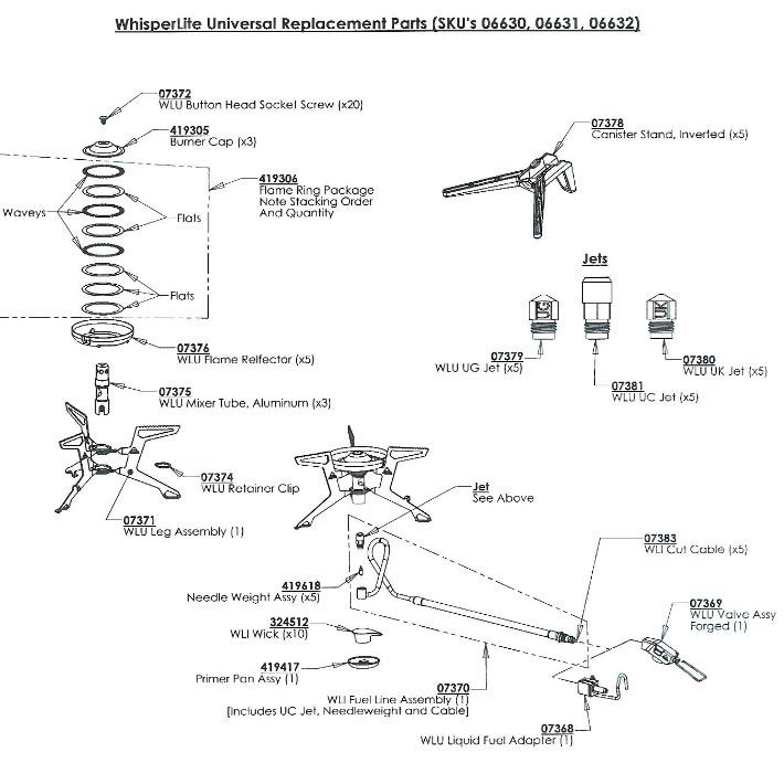 MSR WhisperLite Universal diagram