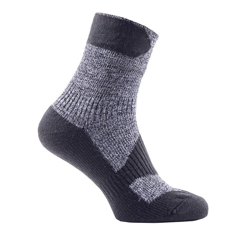 Sealskinz Walking Thin Ankle Waterproof Sock Grey/Black