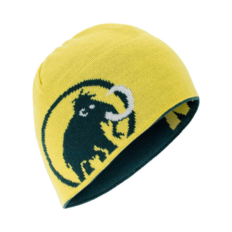 Mammut Logo Beanie Dark Teal/Canary reversed