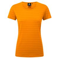 Mountain Equipment Women's Stripe Tee Orange Sherbet Stripe