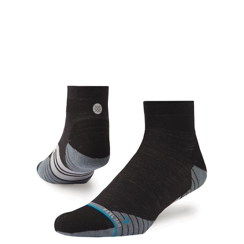 Stance Men's Uncommon Solids Wool Quarter Charcoal