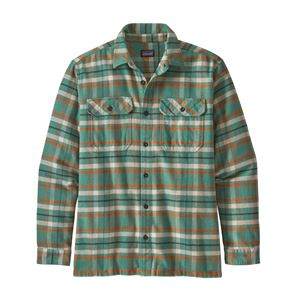 Patagonia Men's Long-Sleeved Fjord Flannel Shirt Independence: Eelgrass Green