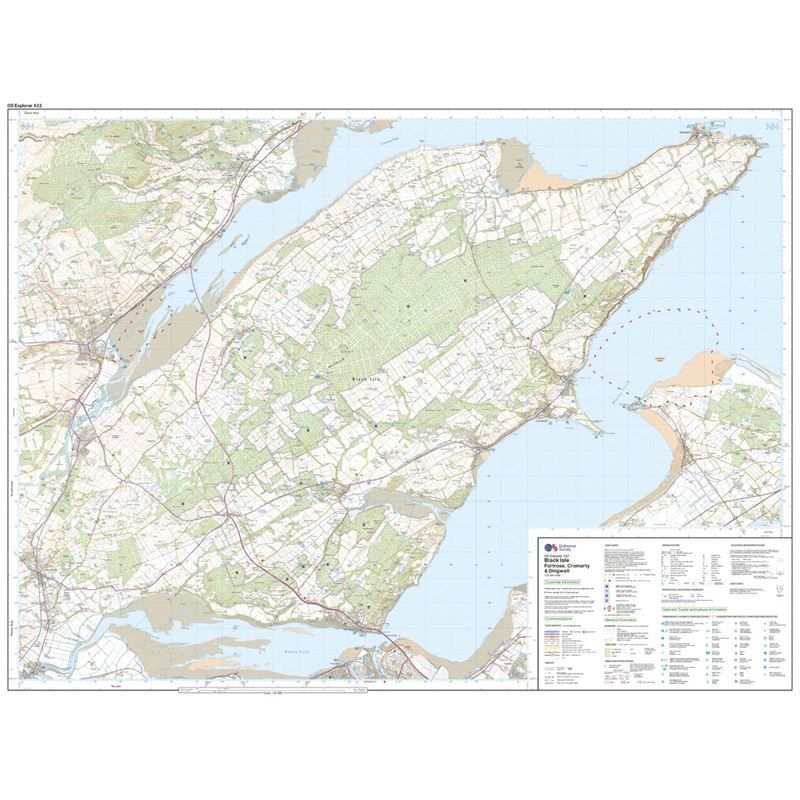 OS Explorer 432 Paper - Black Isle 1:25,000 sheet