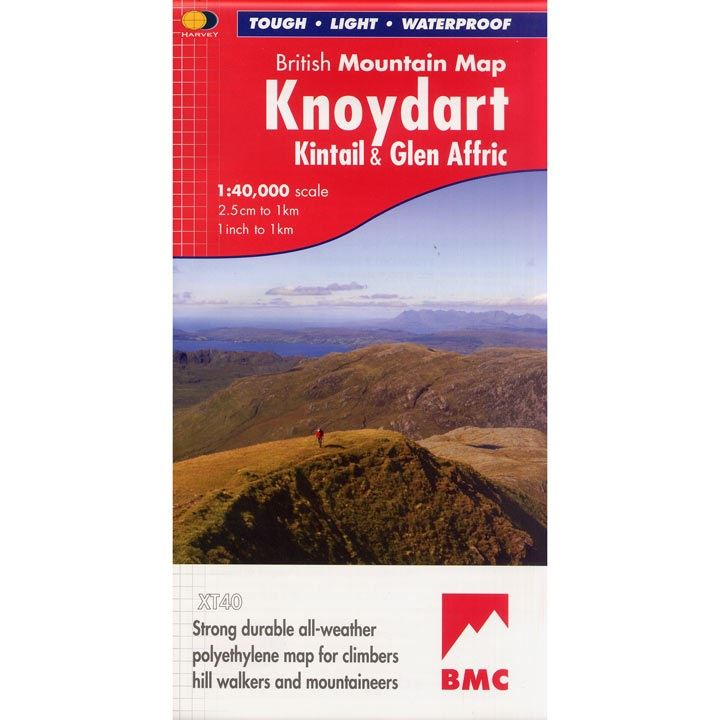 BMC Waterproof Mountain Map Knoydart, Kintail & Glen Affric 1:40,000